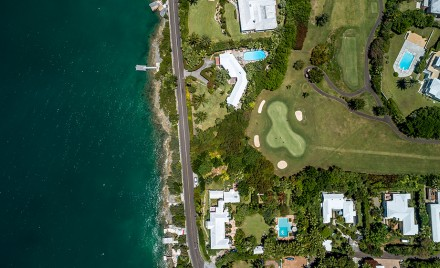 Belmont Hills golf course from above