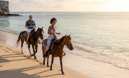Horseback riding on the South Shore trails at Jobson's Cove and Warwick Long Bay