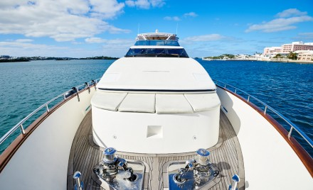 Luxury yachts are at home in Bermuda's Hamilton Harbour