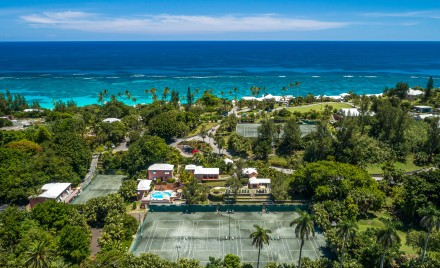 Bermuda Tennis Courts near Water