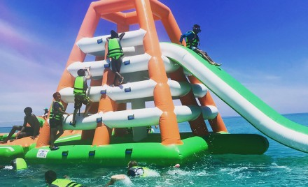 X2O, an inflatable water park in the West End